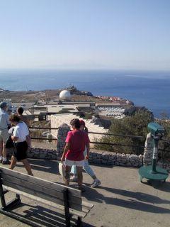 Gibraltar - taustalla Afrikka