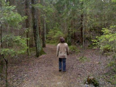 Mamman kanssa kävelyllä