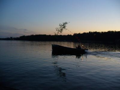 Jyhannustyyliä kalastajaveneessä