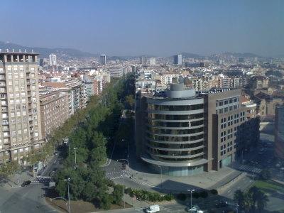 Näkymä hotellihuoneen ikkunasta