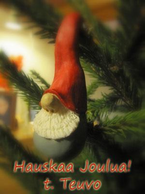 Hauskaa Joulua 2009 toivottaa Teuvo