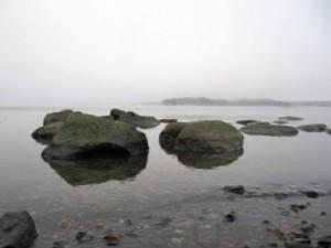 Merellä on sumua