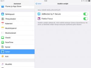 iOS-Safari-sisällönestäjä