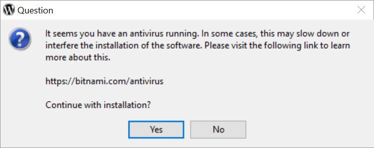 Antivirusilmoitus